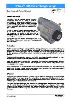 Rotrex Technical Datasheet C15 Range