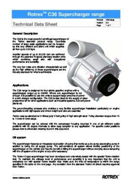 Rotrex Technical Datasheet C38 Range