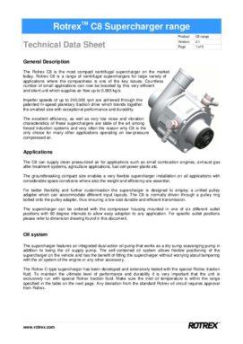Rotrex Technical Datasheet C8 Range(1)